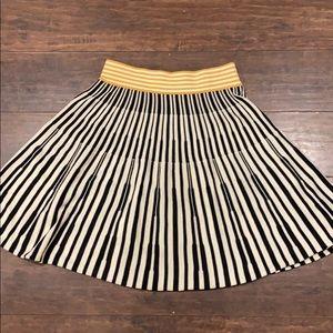 Anthropologie Viola Striped knit skirt -Large